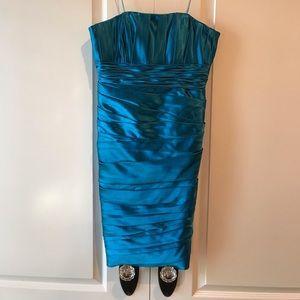JS collection strapless evening dress